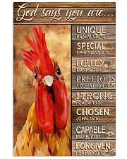 God says you are Faux wood print 11x17 Poster front