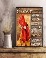 God says you are Faux wood print 11x17 Poster lifestyle-poster-3