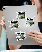 Hippie van crack sticker Sticker - 4 pack (Vertical) aos-sticker-4-pack-vertical-lifestyle-front-11