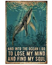 And into the ocean i go 11x17 Poster front