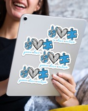 Peace love autism Sticker - 4 pack (Horizontal) aos-sticker-4-pack-horizontal-lifestyle-front-13