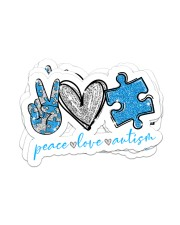 Peace love autism Sticker - 4 pack (Horizontal) front