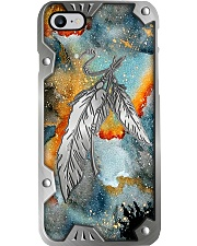 Native Feather Metal Pattern Print  Phone Case i-phone-8-case