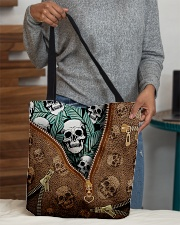 Tropical skull All-over Tote aos-all-over-tote-lifestyle-front-10