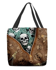 Tropical skull All-over Tote back