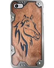 Love horses leather pattern print Phone Case i-phone-8-case