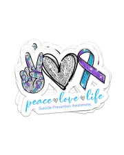 Peace love hope Sticker - 4 pack (Horizontal) front
