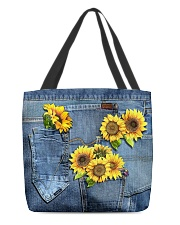 Sunflowers All-over Tote back