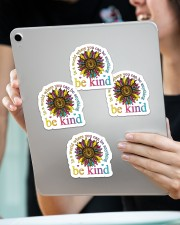 In a world where you can be anything be kind Sticker - 4 pack (Vertical) aos-sticker-4-pack-vertical-lifestyle-front-11