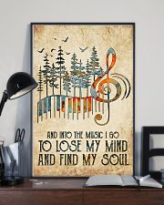And into the music I go 11x17 Poster lifestyle-poster-2