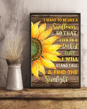 I want to be like a sunflower  11x17 Poster lifestyle-poster-3