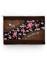 Never give up Leather pattern print Accessory Pouch tile