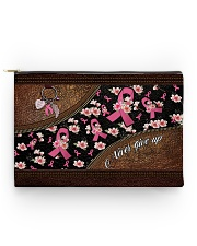 Never give up Leather pattern print Accessory Pouch - Standard back