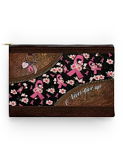 Never give up Leather pattern print Accessory Pouch - Standard front
