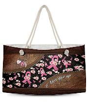 Never give up Leather pattern print Weekender Tote tile