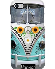 Sunflower Hippie Van Personalized Products Phone Case i-phone-8-case