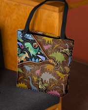 Dinosaur galaxy tote  All-over Tote aos-all-over-tote-lifestyle-front-02