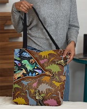 Dinosaur galaxy tote  All-over Tote aos-all-over-tote-lifestyle-front-10