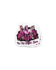 No one fights alone Sticker - 4 pack (Vertical) front