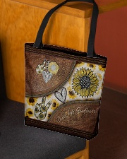 Peace Love Sunflower Leather Pattern Print  All-over Tote aos-all-over-tote-lifestyle-front-02