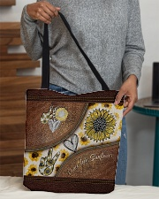 Peace Love Sunflower Leather Pattern Print  All-over Tote aos-all-over-tote-lifestyle-front-10