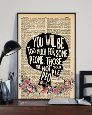 You will be too much 11x17 Poster lifestyle-poster-2