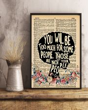 You will be too much 11x17 Poster lifestyle-poster-3
