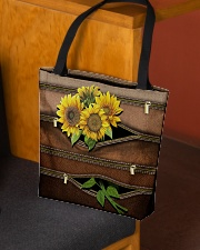Sunflower Leather Pattern Print All-over Tote aos-all-over-tote-lifestyle-front-02