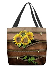 Sunflower Leather Pattern Print All-over Tote front