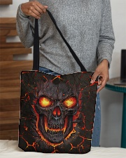 Burning skull All-over Tote aos-all-over-tote-lifestyle-front-10