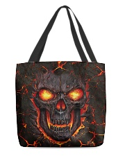Burning skull All-over Tote front