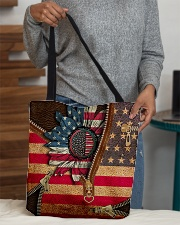 Patriotic sunflower All-over Tote aos-all-over-tote-lifestyle-front-10