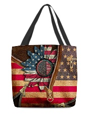 Patriotic sunflower All-over Tote back