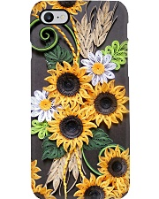 Sunflower quilling pattern print Phone Case i-phone-8-case