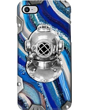 Scuba Diving Metal Pattern Print  Phone Case i-phone-8-case