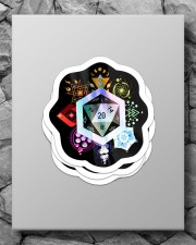 Holographic D20 Sticker - 4 pack (Vertical) aos-sticker-4-pack-vertical-lifestyle-front-09