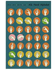 Asl retro alphabet 11x17 Poster front