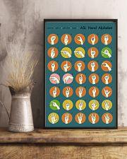 Asl retro alphabet 11x17 Poster lifestyle-poster-3