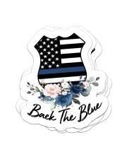 Black the blue Sticker - 4 pack (Vertical) front