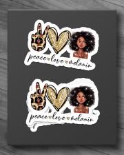 Peace love melanin Sticker - 4 pack (Horizontal) aos-sticker-4-pack-horizontal-lifestyle-front-10