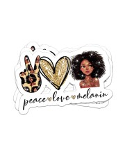 Peace love melanin Sticker - 4 pack (Horizontal) front