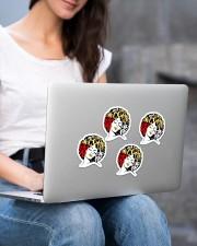 I am my ancestor's wildest dream Sticker - 4 pack (Vertical) aos-sticker-4-pack-vertical-lifestyle-front-15