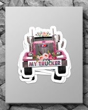 I love my trucker Sticker - 4 pack (Vertical) aos-sticker-4-pack-vertical-lifestyle-front-09