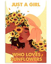 Just a girl who loves sunflowers 11x17 Poster front