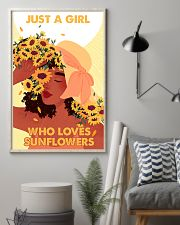 Just a girl who loves sunflowers 11x17 Poster lifestyle-poster-1