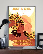 Just a girl who loves sunflowers 11x17 Poster lifestyle-poster-2