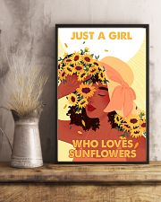Just a girl who loves sunflowers 11x17 Poster lifestyle-poster-3