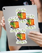 And into the garden I go Sticker - 4 pack (Vertical) aos-sticker-4-pack-vertical-lifestyle-front-11