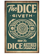 The dice giveth 11x17 Poster front