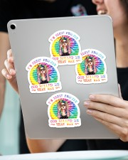I'm blunt because god rolled me that way Sticker - 4 pack (Vertical) aos-sticker-4-pack-vertical-lifestyle-front-11